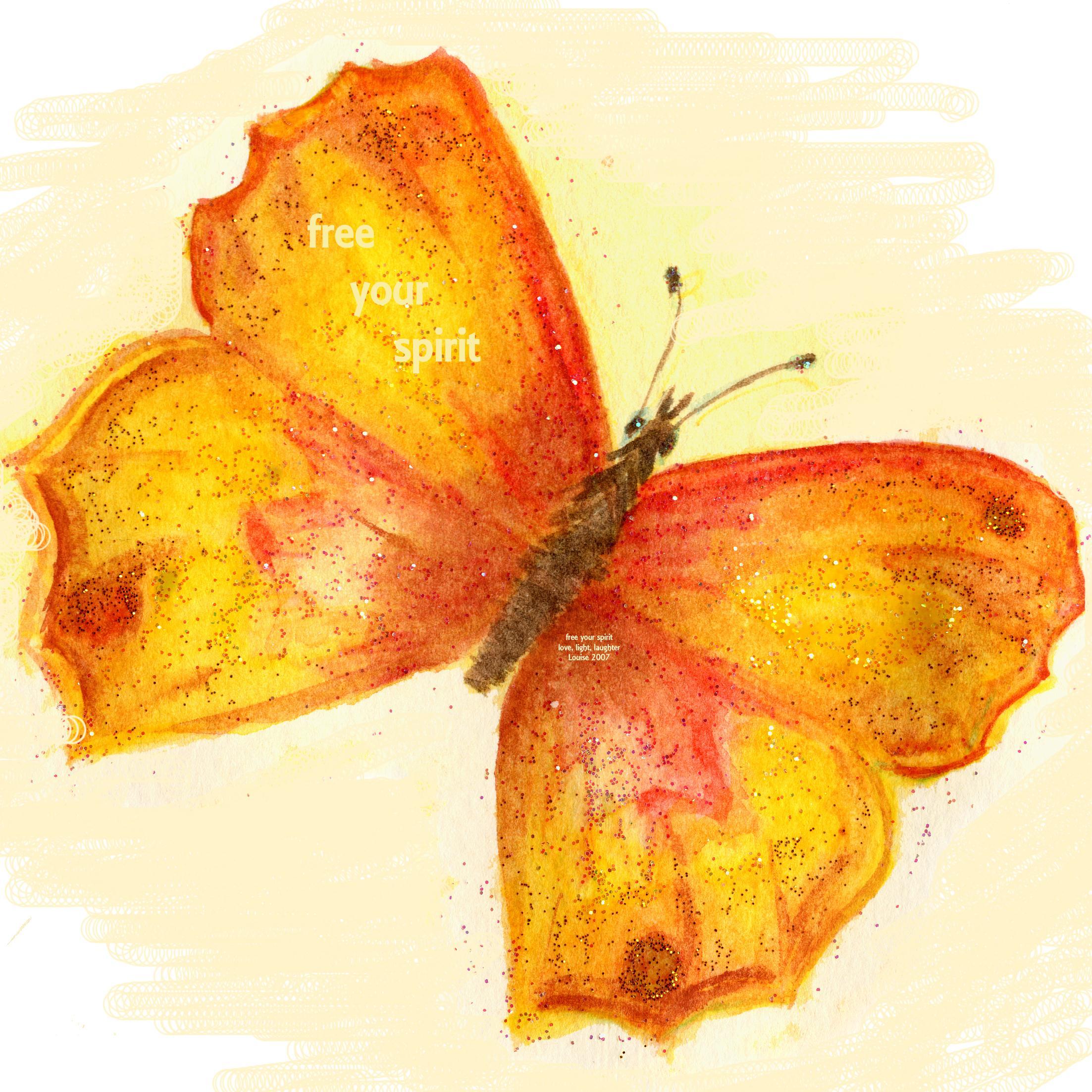 Red, Orange, Yellow Chakra Butterfly
